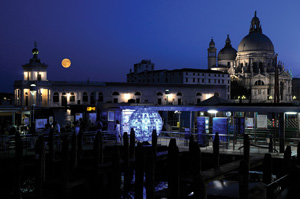 Luna Piena sculpture on the Grand Canal in Venice