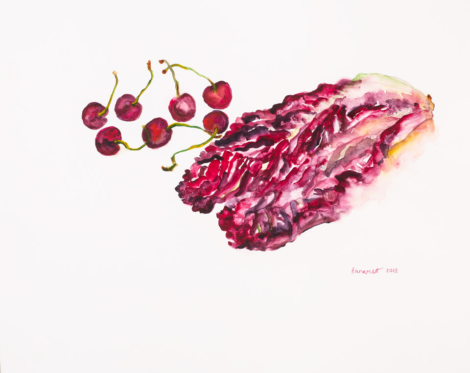 Cherries and Lettuce, 2018