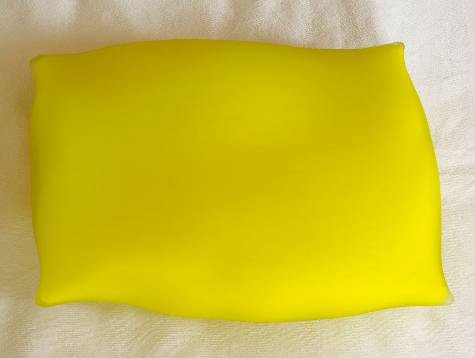 Limoncello - venetian glass pillow